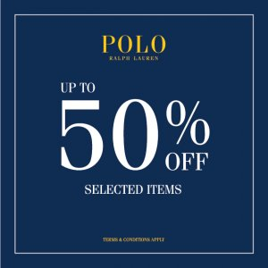 Polo Ralph Lauren sale up to 50% off